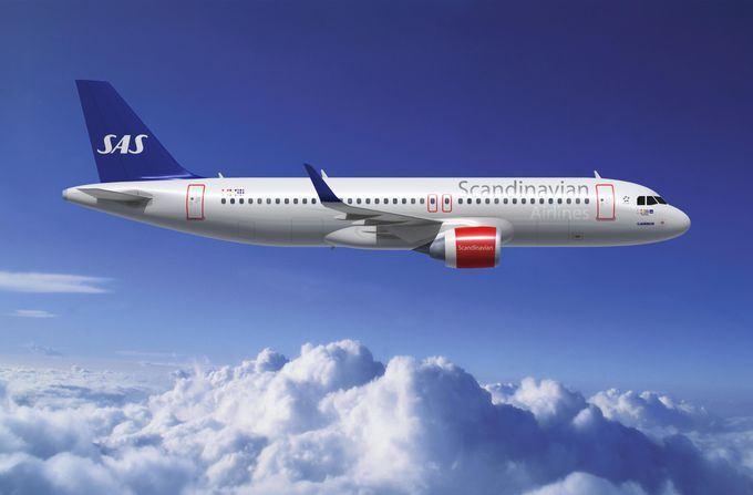 Computerfoto af SAS A320-200neo. (Airbus / Fixion)