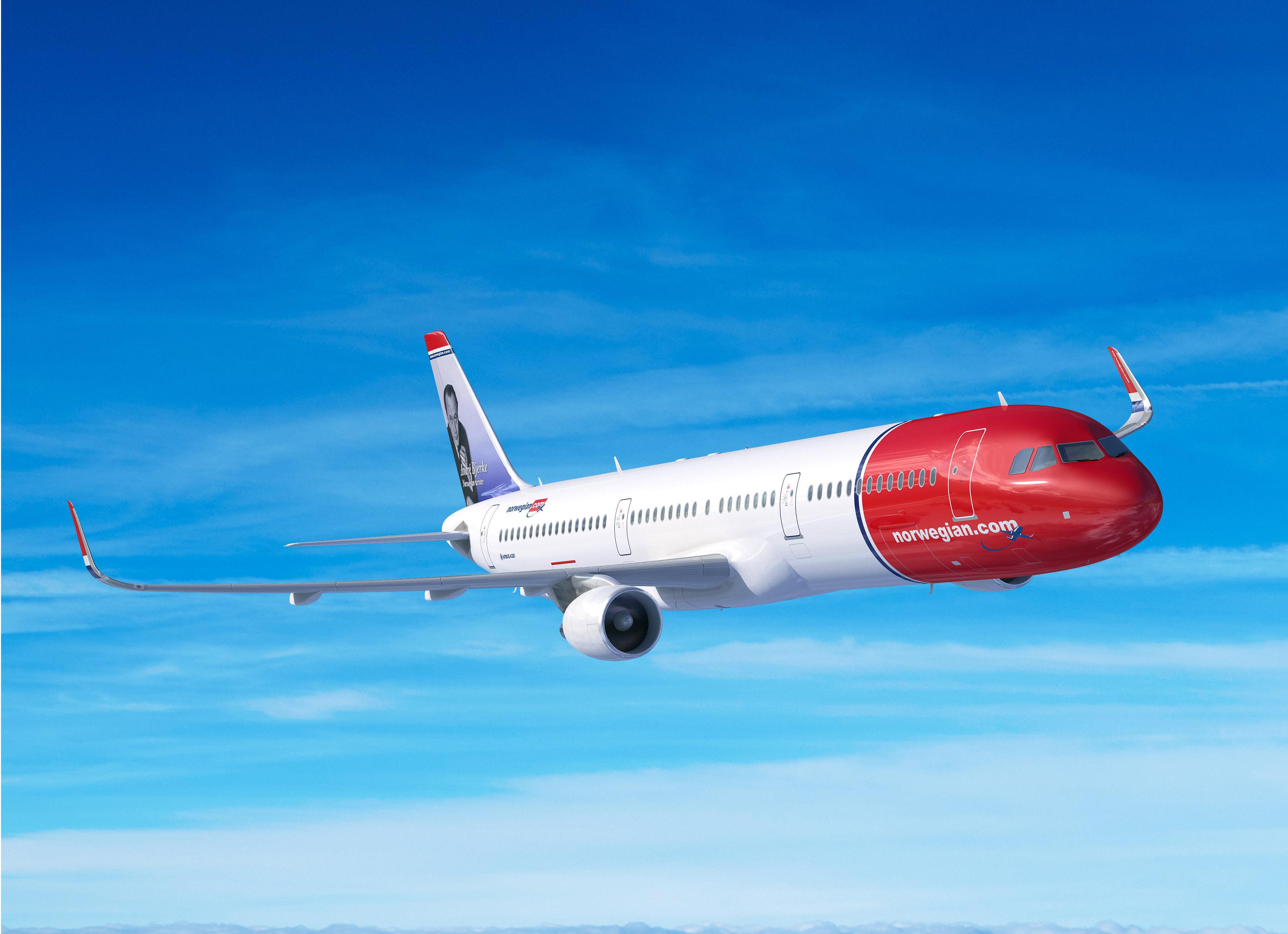 Norwegian A321LR. (Foto: Airbus/PR)