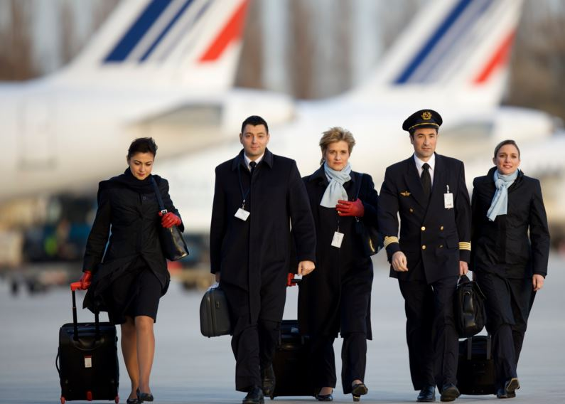 Air France-crew. (Foto: Laurent Masson / Air France)