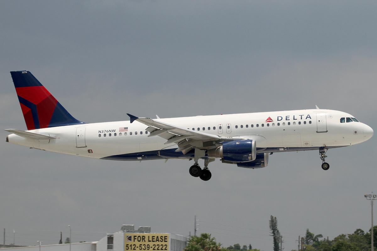 Airbus A320-200 fra Delta Air Lines. (Foto: Konstantin von Wedelstaedt / Wikimedia)