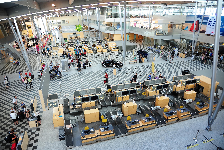 Check-in området i Billund Lufthavn (Foto: Billund Lufthavn)