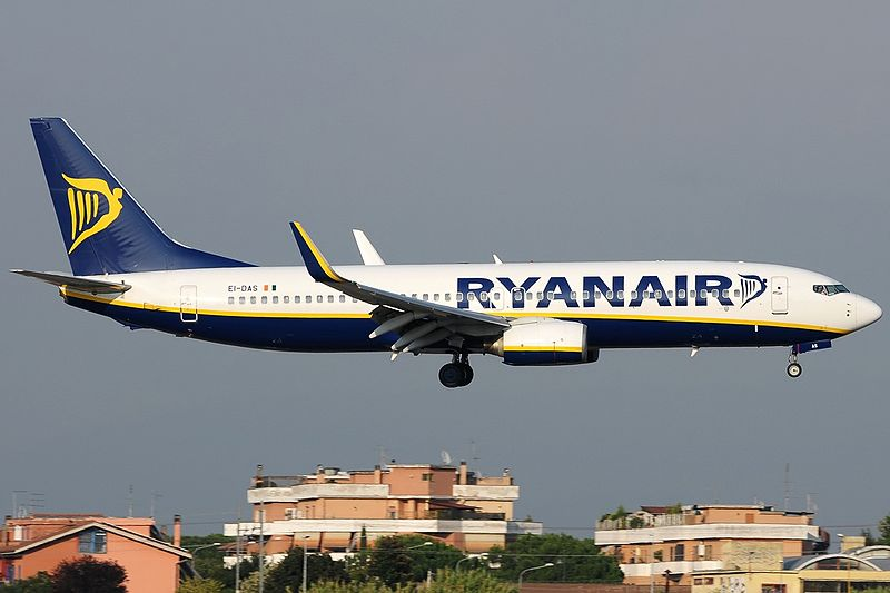 Et Ryanair-fly lander i Rom Ciampino-lufthavnen. Foto: Aldo Bidini / Wikimedia Commons