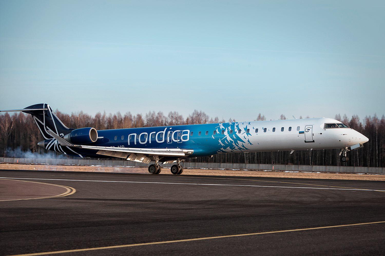 Bombardier CRJ900 fra Nordica.