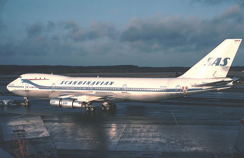 Boeing 747-flyet var en del af SAS-flåden i 1970'erne og 1980'erne. Foto: Brorsson / Wikimedia Commons.