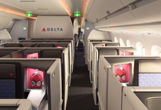 Der bliver plads til 32 Delta One-suiter på Delta Air Lines' nye Airbus A350-900 fly.