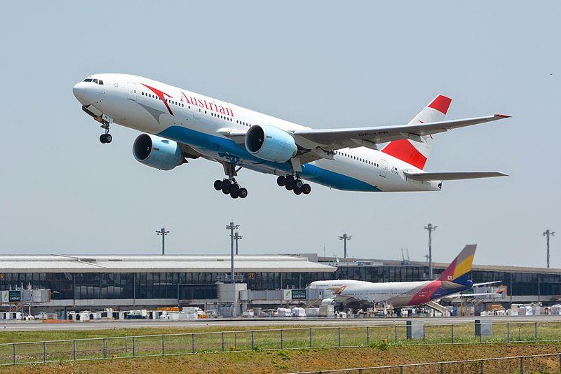 Austrian Airlines Boeing 777-200ER (Foto: Masakatsu Ukon/Wikipedia)