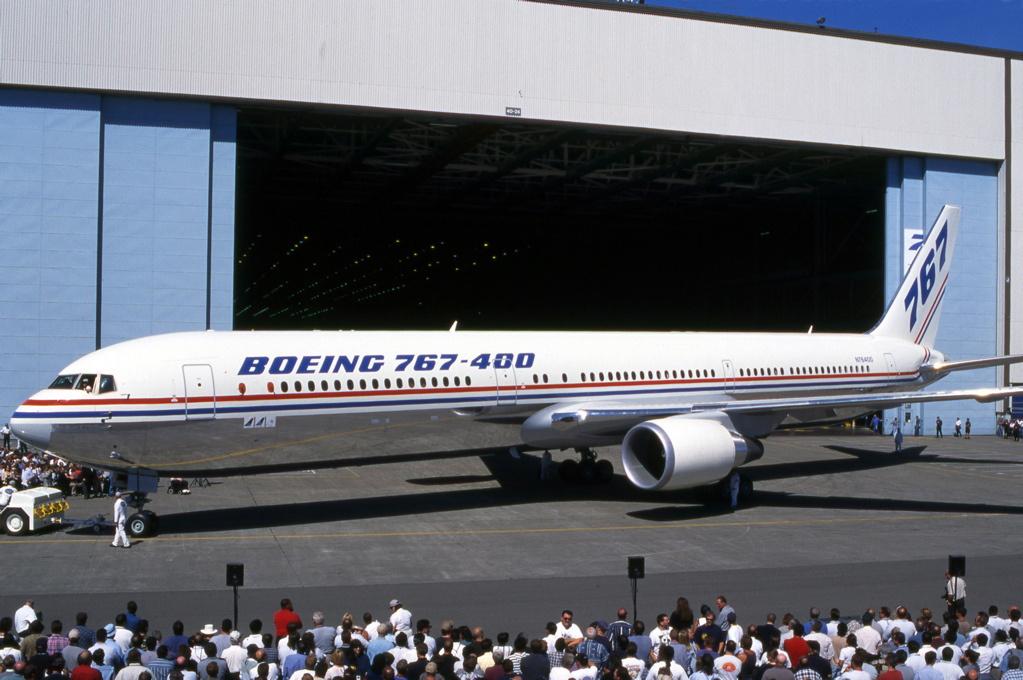 Boeing 767-400 ved præsentationen i august 1999. (Foto: Jon Proctor)