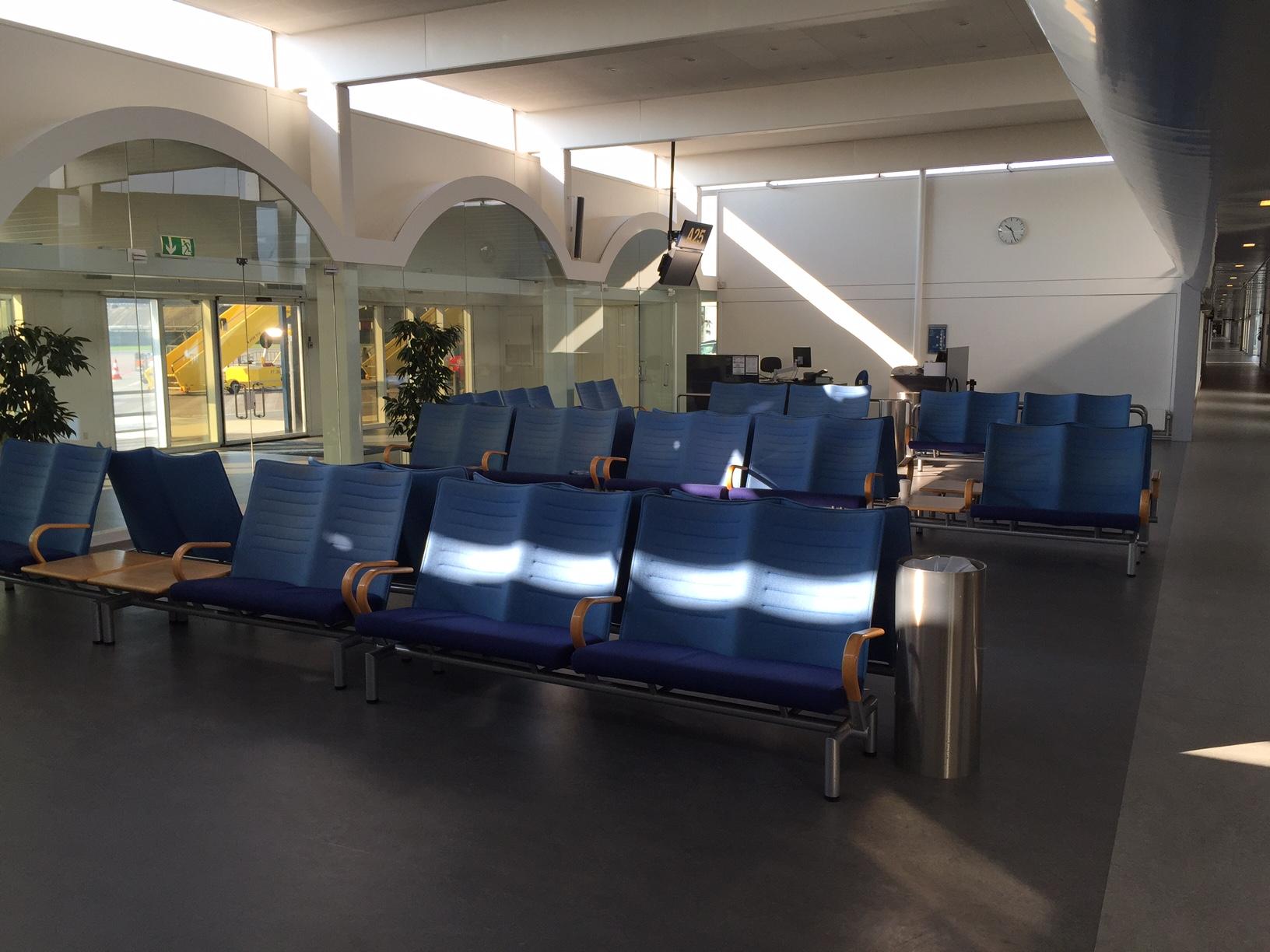 Terminal 1 og 11 tilhørende gates står i dag øde hen i Københavns Lufthavn. Foto: Andreas Krog.