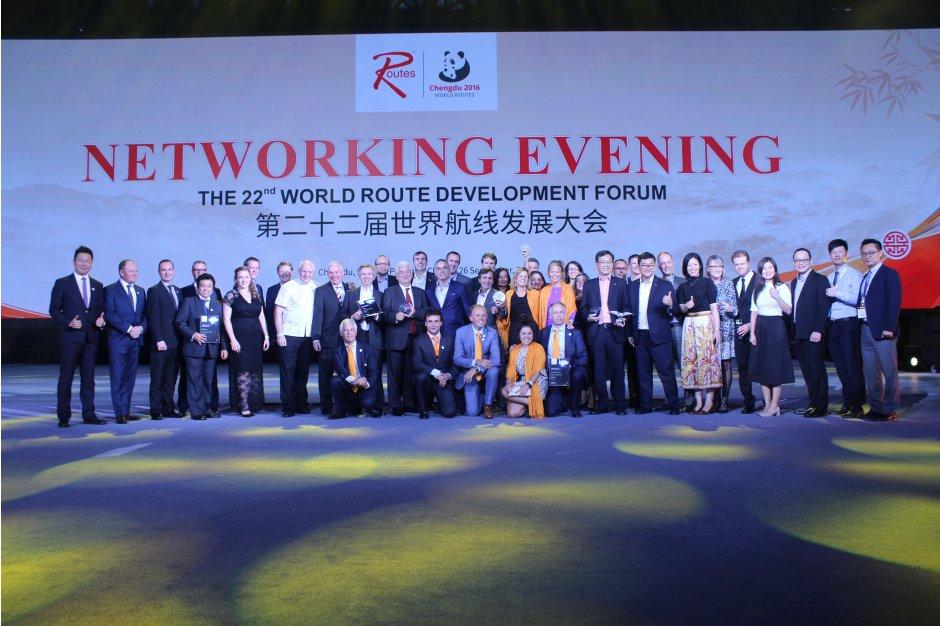 World Routes Awards 2016 i Chengdu, Kina.