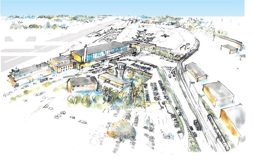 Fremtidens Bromma-lufthavn.