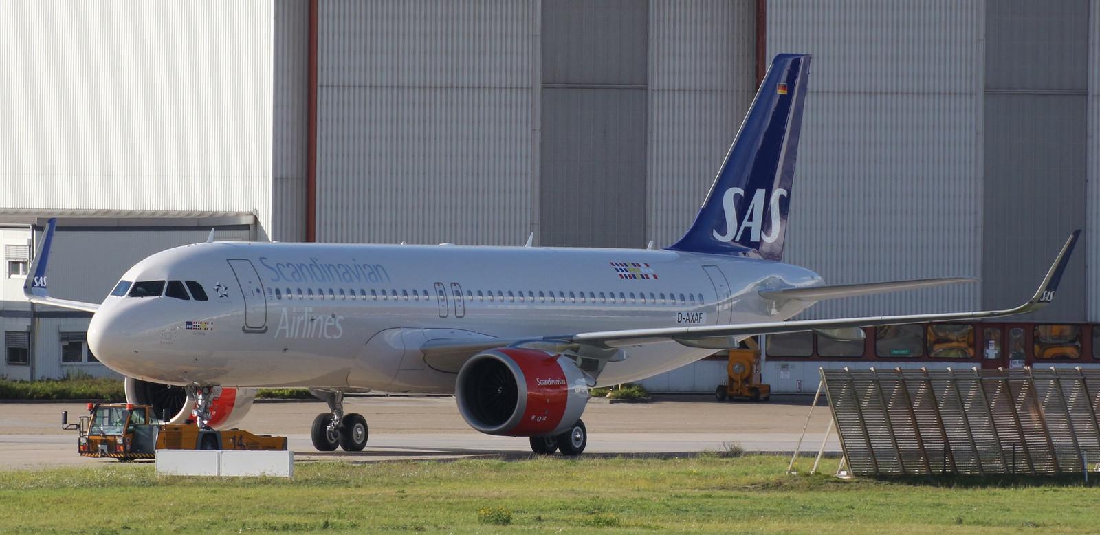 A320-251N, SAS Scandinavian Airlines, D-AXAF, LN-RGL (Foto: XFW Spotter)