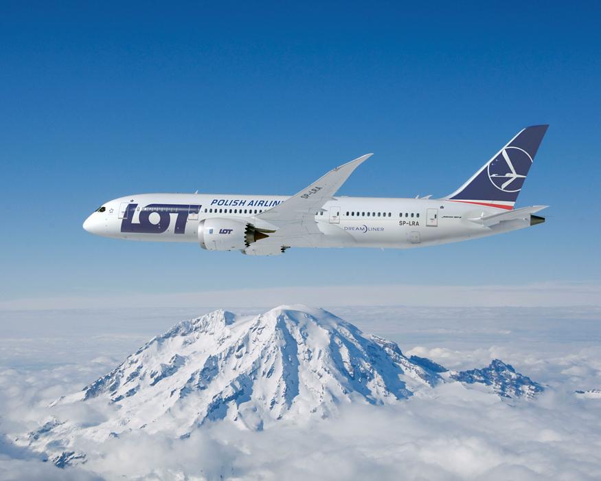 LOT modtager i 2017 to nye Boeing 787-fly. Foto: LOT/PR
