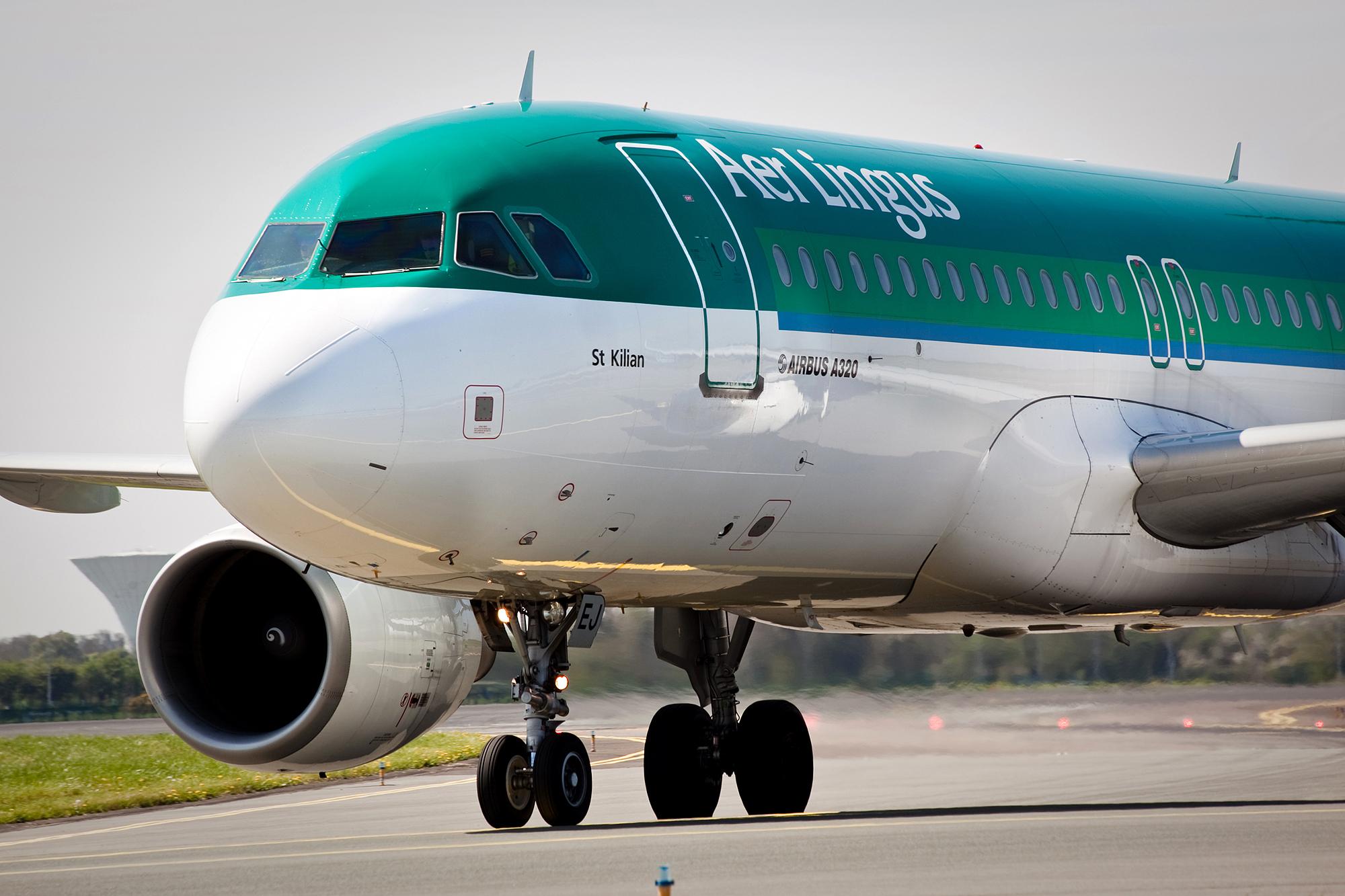 Aer Lingus Airbus A320 i Dublin Airport. Foto: PR/Dublin Airport