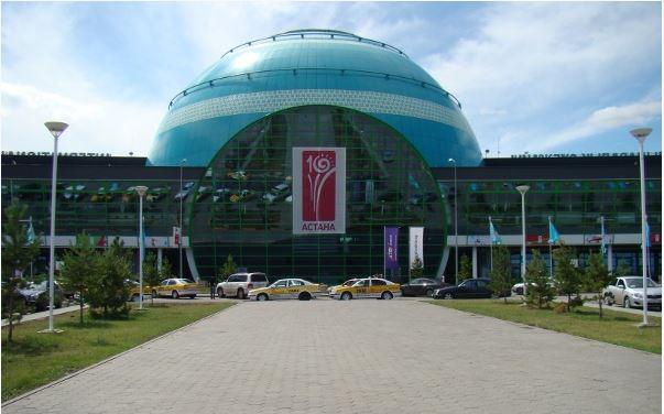 Lufthavnen i Astana fik en ny terminal i 2005. Foto: Astana International Airport.