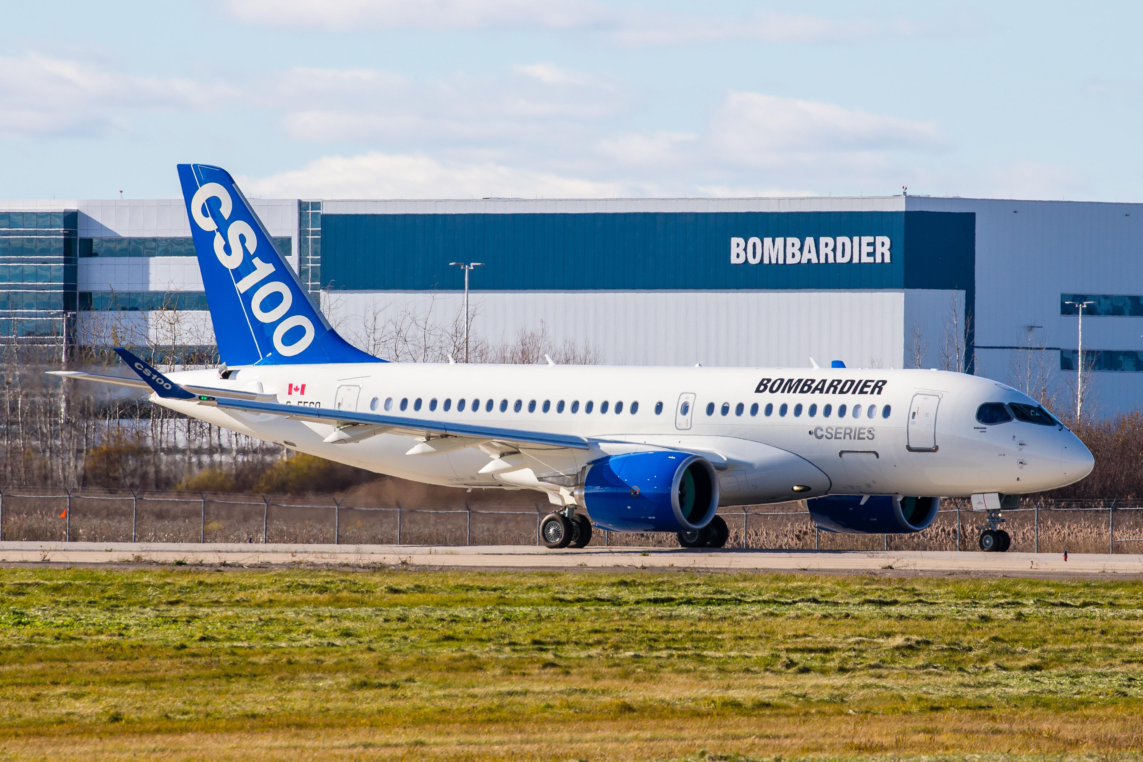 Bombardier CS100. (Foto: Patrick Cardinal)