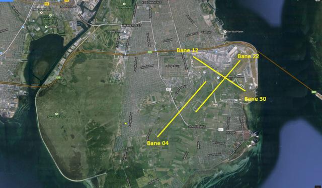 Baneoversigt Københavns Lufthavn. (Grafik: DMI)