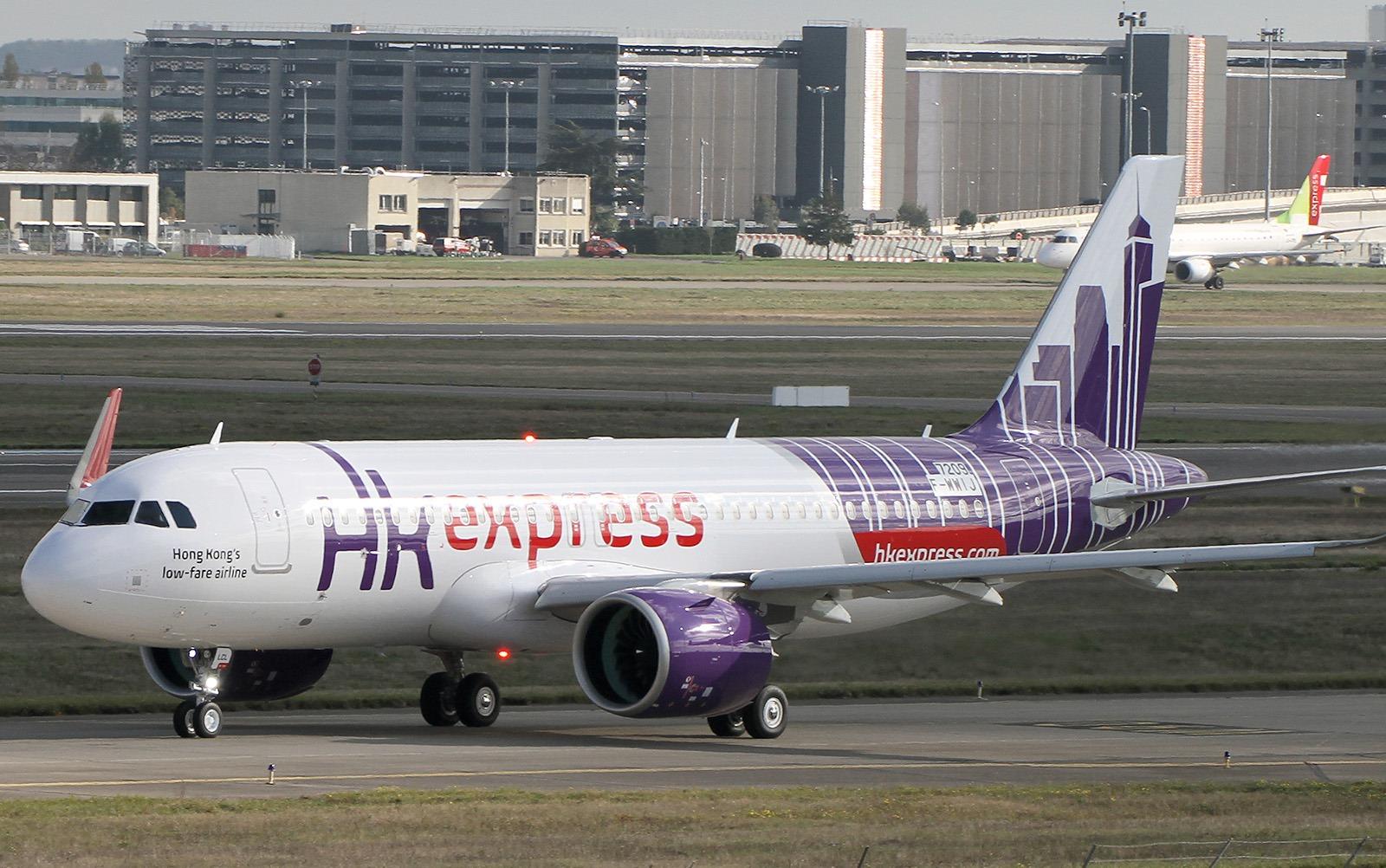 Norwegians første Airbus A320neo er leaset til HK Express. (Foto: Yannick Delamarre)