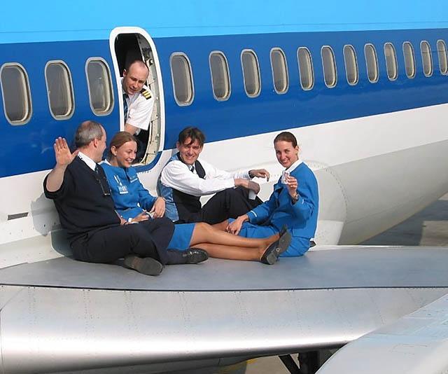 KLM-besætning (Arkivfoto)