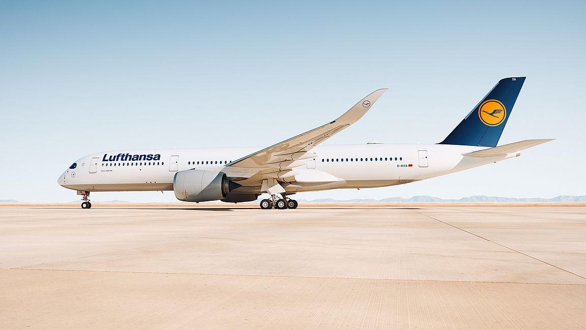 Første Lufthansa Airbus A350-900 XWB med registreringen D-AIXA (Foto: Lufthansa)
