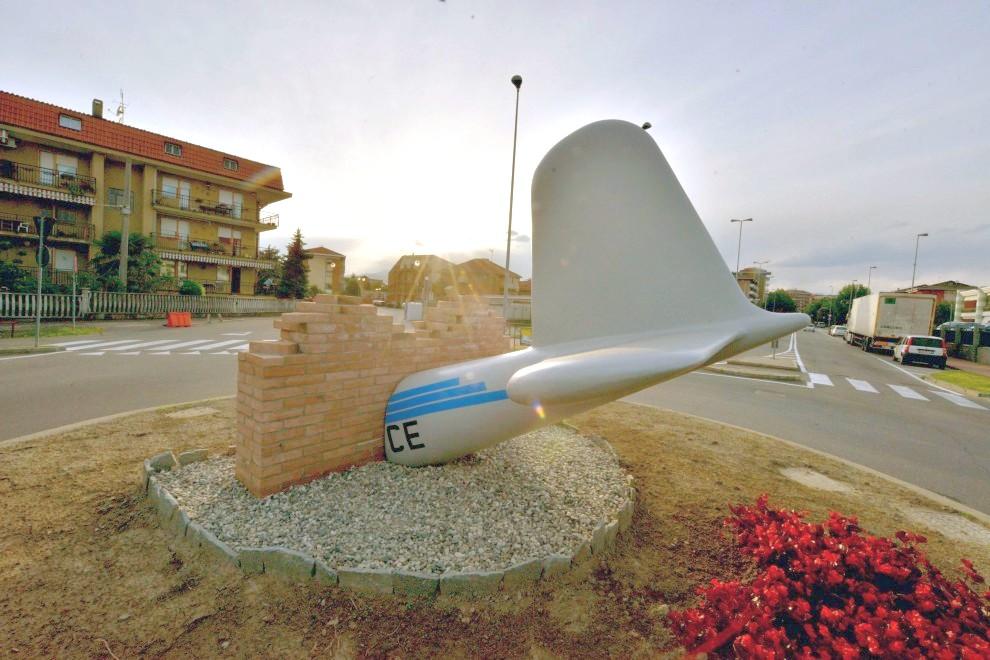 Mindesmærke i Torino i forbindelse med Superga-flyulykken.