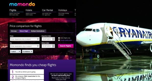 Collage. Kilder: Momondo/PR og Ryanair/PR