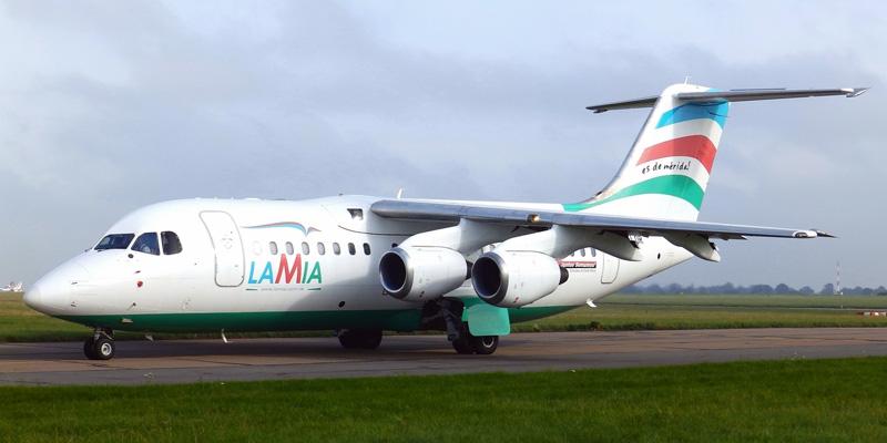 Avro RJ-85 fly fra LAMIA.