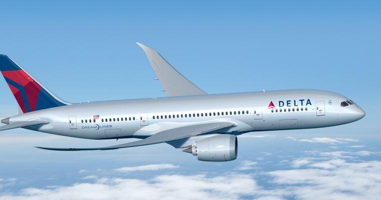 Sådan kunne Dreamlineren have set ud i Delta Air Lines' farver. Illustration: Boeing.