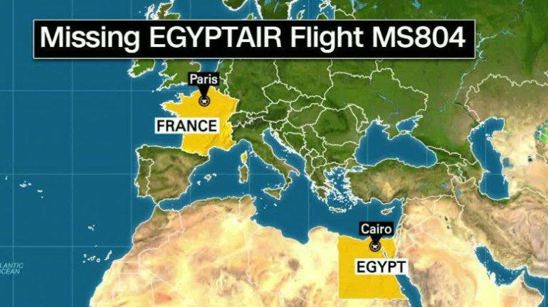 EgyptAir MS804 forsvandt på vej fra Paris-CDG til Cairo (Grafik: Fox News)