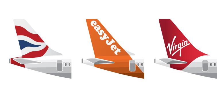 British Airways, easyJet og Virgin er blandt de store kunder i London Gatwick Airport.