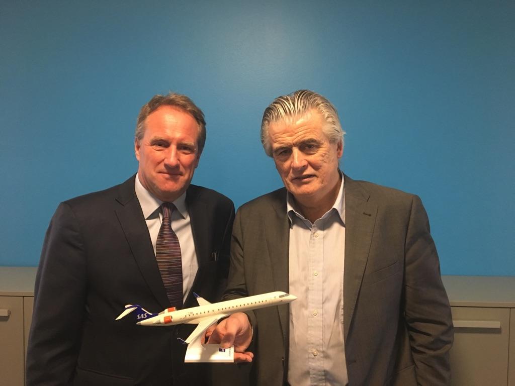 Lars Sandahl Sørensen, COO i SAS (t.v.) og Pat Byrne, Executive Chairman, CityJet