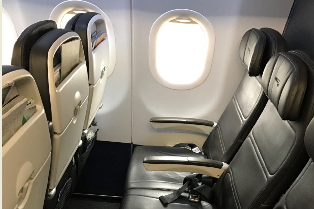 Behagelige lædersæder på EuroTraveller hos British Airways (Foto: Casper Christensen)