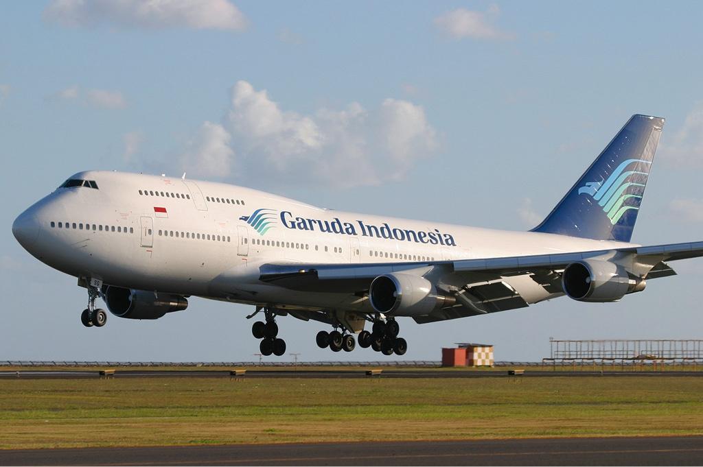 Den ene af Garuda Indonesia's to tilbageværende Boeing 747-400 fly. Foto: Dmitriy Pichugin / Wikimedia Commons.