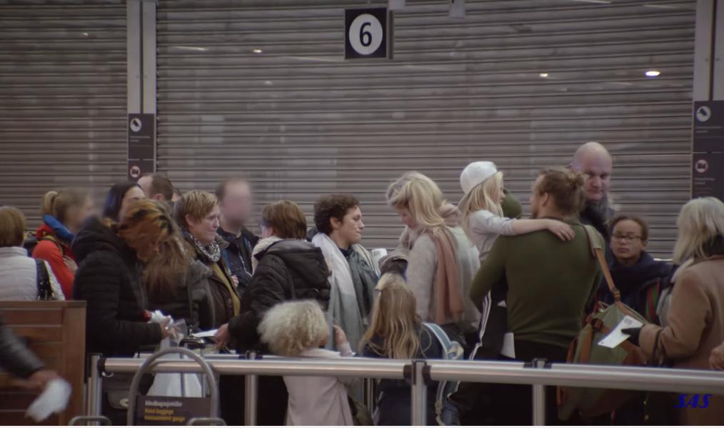Kø i Oslo Lufthavn (Foto: SAS Plus Eksperimentet NO)