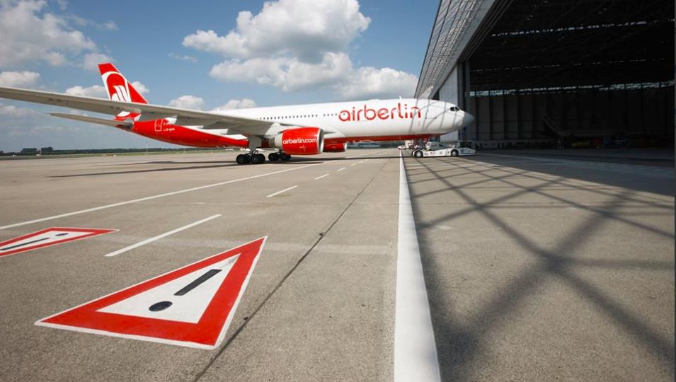 Mange airberlin-fly må blive på jorden (Foto: airberlin)