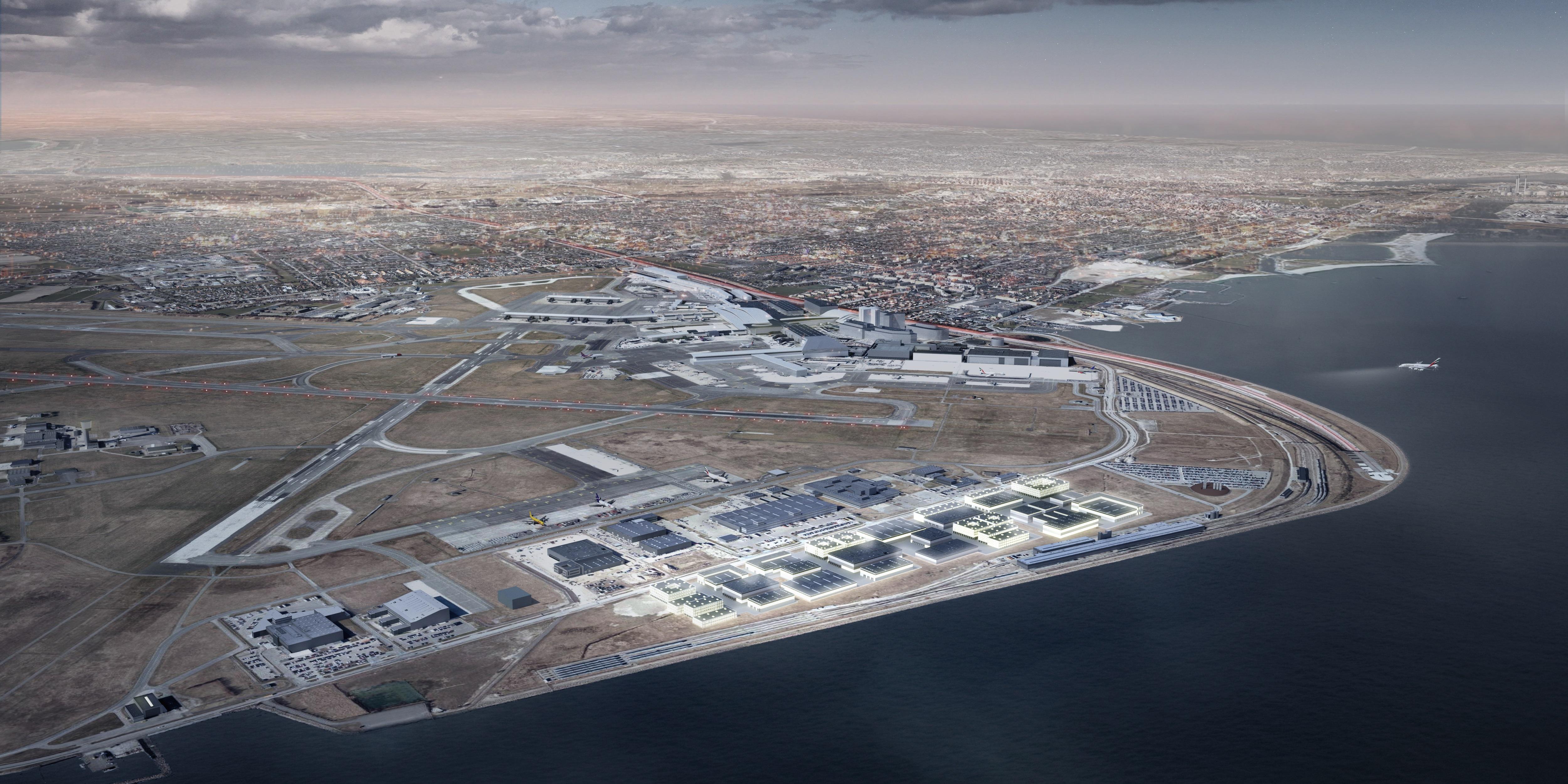 Airport Business Park skal opføres i den østlige ende af Københavns Lufthavn. (Foto: CPH)