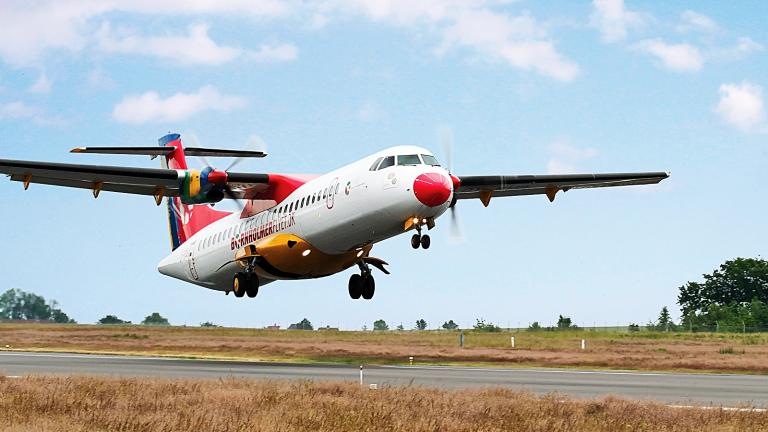 ATR 42-fly fra Danish Air Transport. (Foto: DAT)