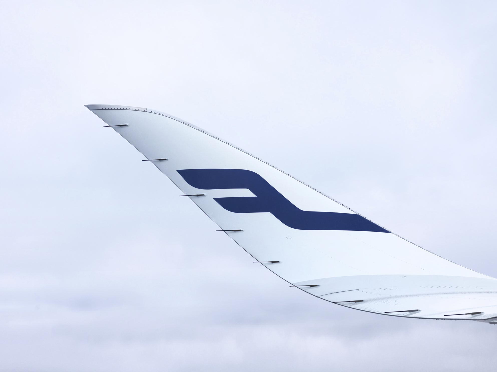 Finnair A350-900 winglet. (Foto: Finnair)