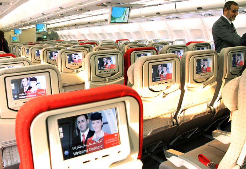 Royal Jordanian In-flight entertainment.
