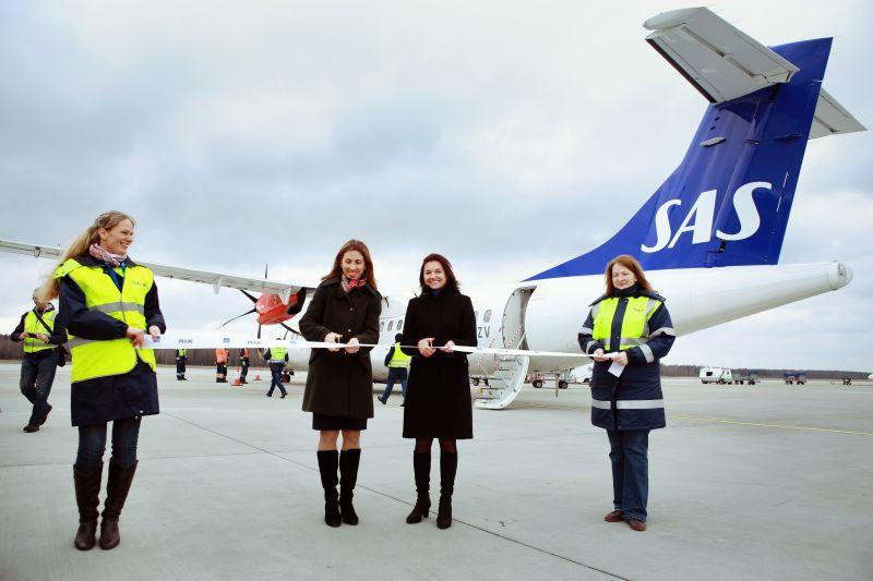 SAS vendte i 2015 tilbage til Riga Airport efter syv års fravær. (Foto: Riga Airport)