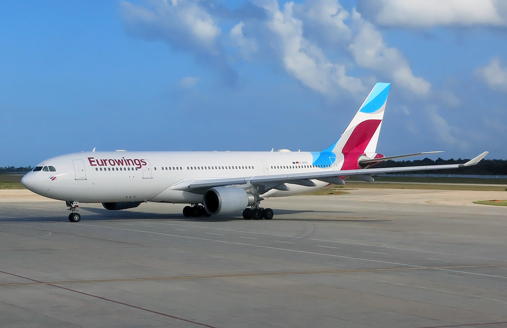 Airbus A330-200 langdistancefly fra Eurowings. (Foto: Paul Spijkers / Wikimedia Commons.
