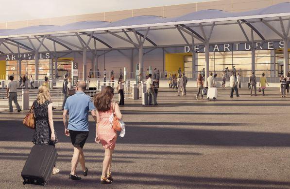 London Luton Airport skal udvides og moderniseres med dansk hjælp. Foto: Luton Aiport.
