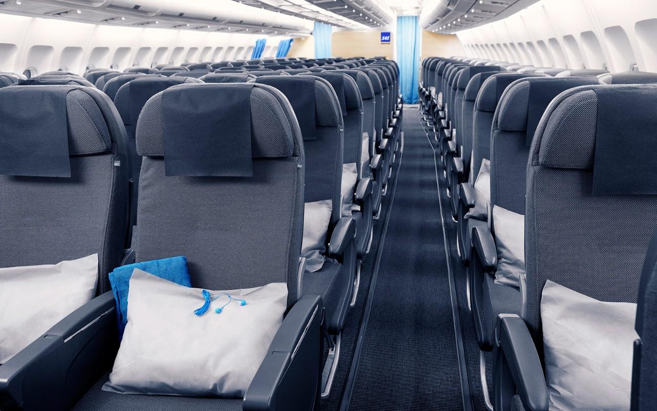 SAS Go kabine i A320neo. (Foto: SAS)