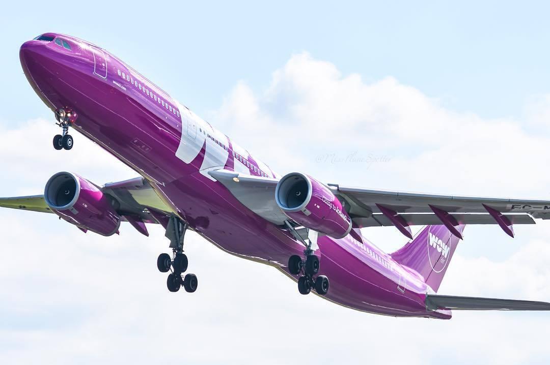 Airbus A330-300 fra WOW air (Foto: WOW air)