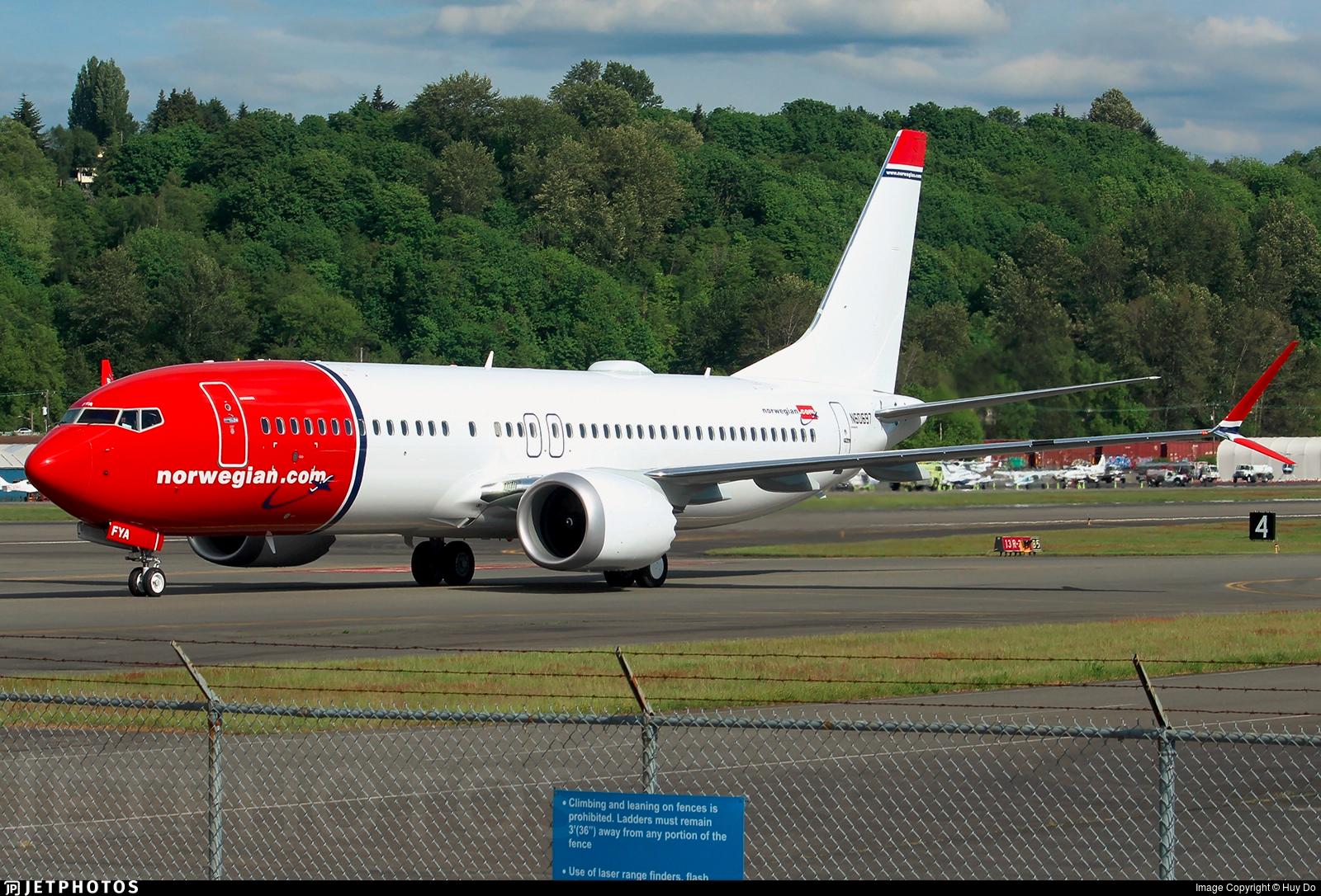 B60697 – Boeing 737 MAX8. King County International Airport-Boeing Field 19. maj 2017 (Foto: Huy Do)