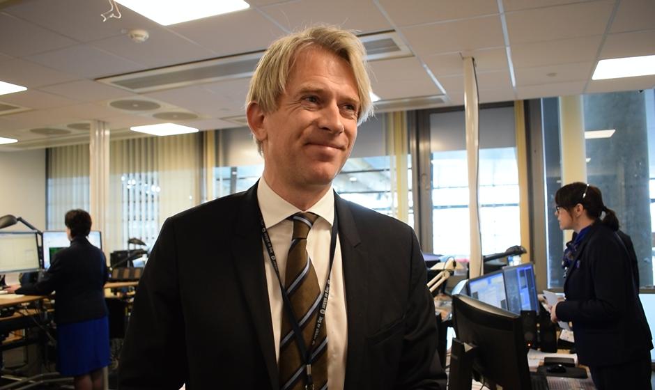 Kommerciel koncerndirektør Eivind Roald fra SAS. (Foto: Joakim J. Hvistendahl)