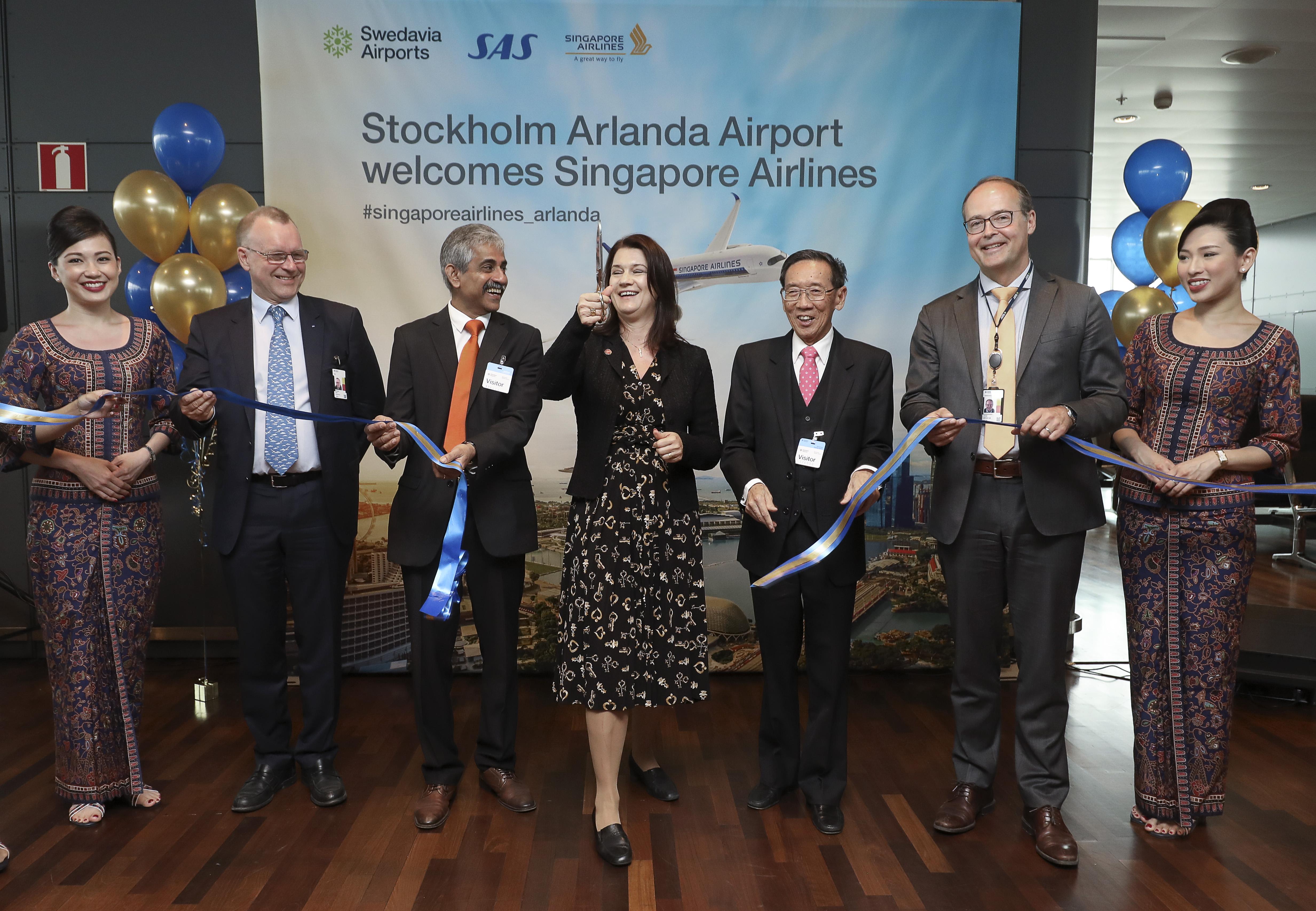 Singapore Airlines ved første ankomst i Arlanda. (Foto: Sören Andersson)