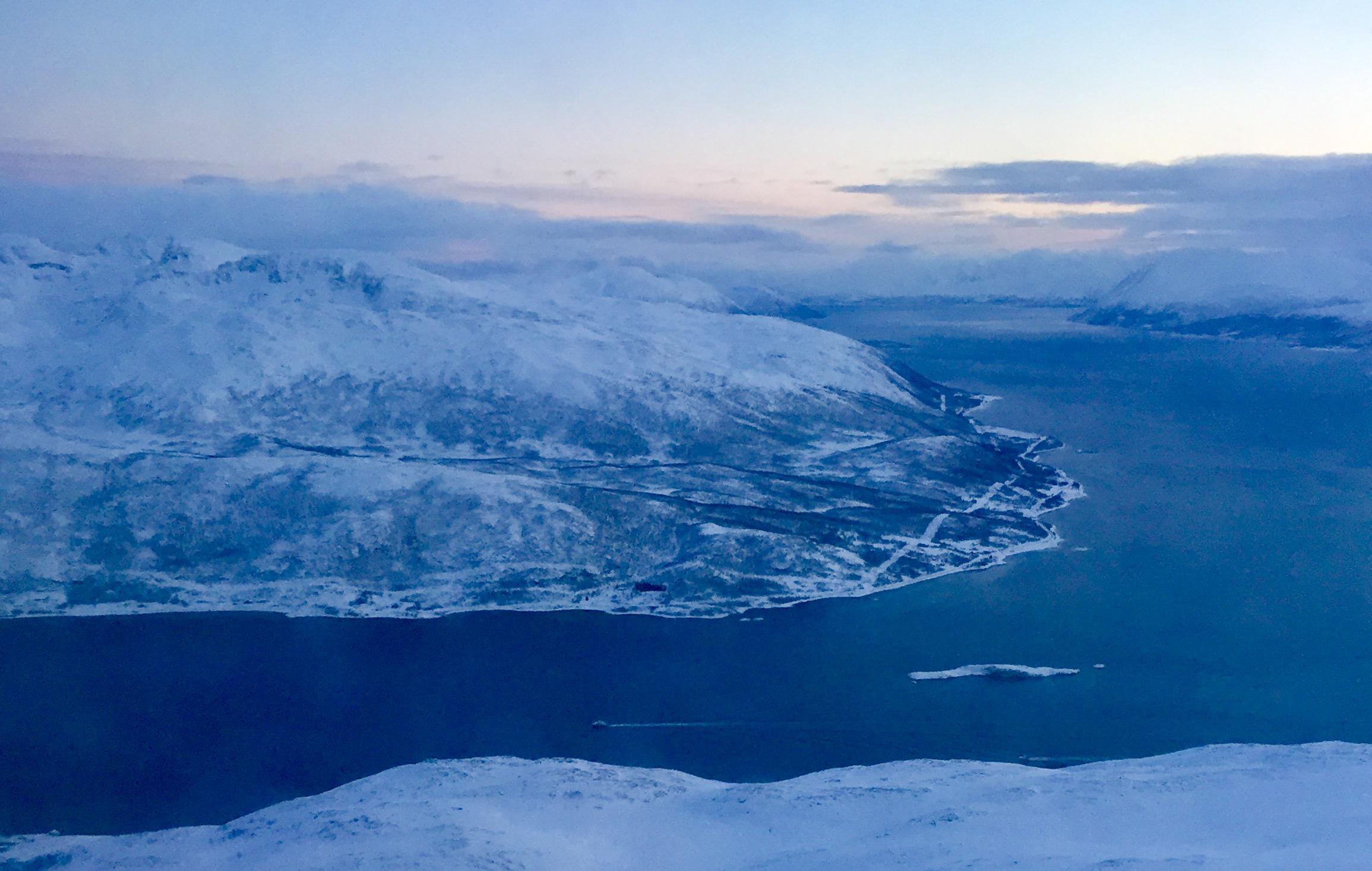 Indlfyvningen til Tromsø er ifølge SAS en af Norges smukkeste. Foto: Andreas Krog.