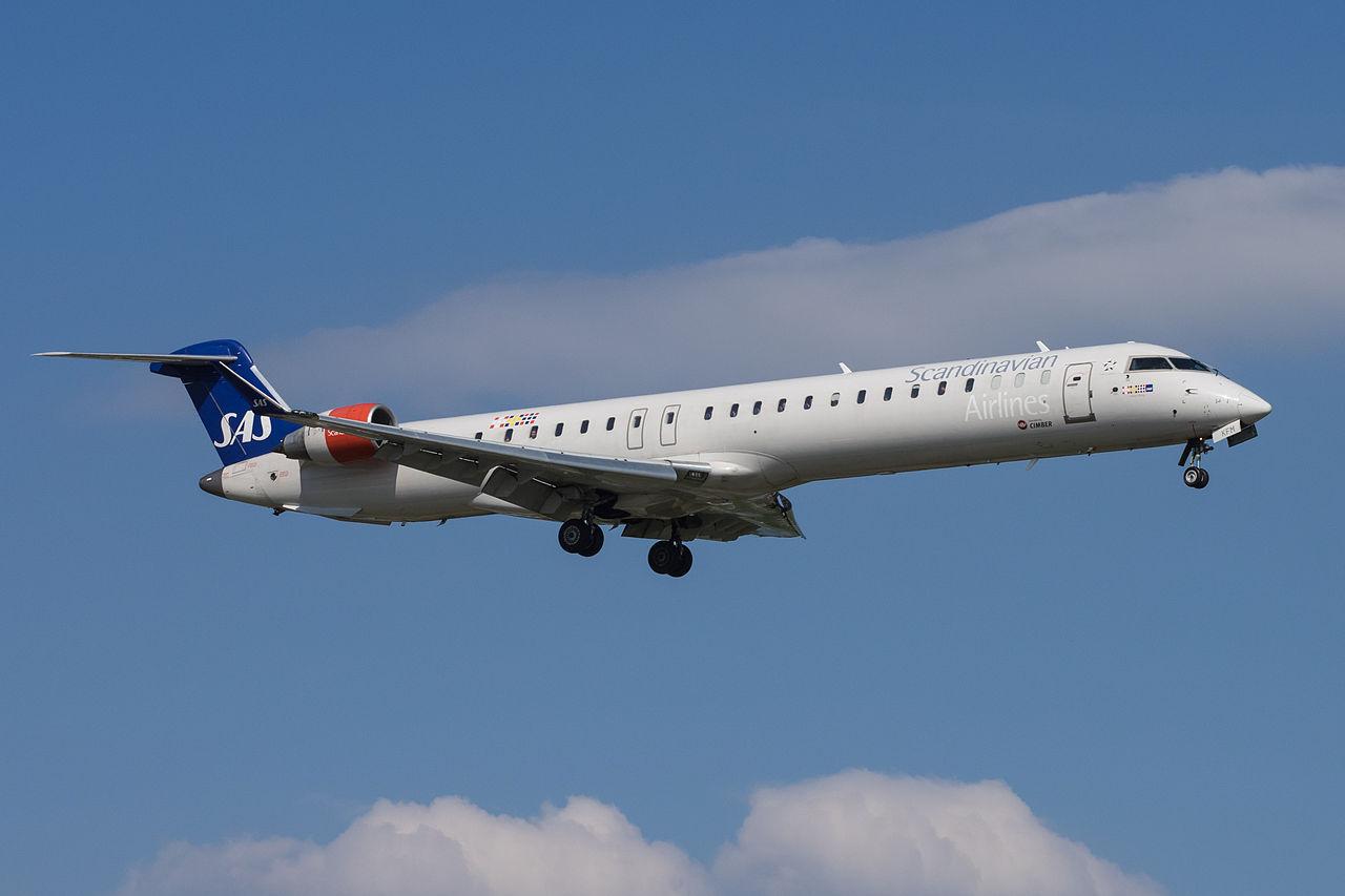Bombardier CRJ 900 fra Cimber i SAS-bemaling. (Foto: Markus Eigenheer | Creative Commons 2.0)