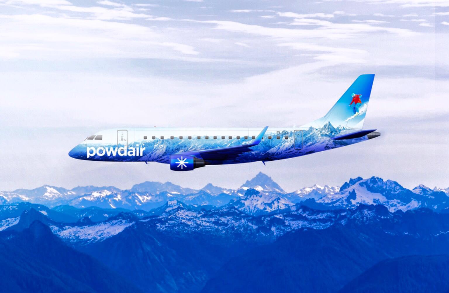 PowdAir Embraer E-170. (Foto: PowdAir)