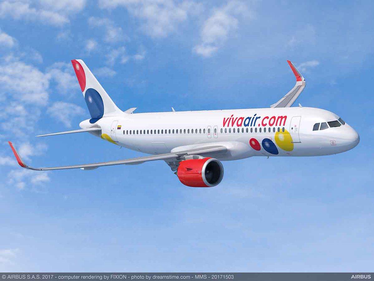 Latinamerikanske Viva Air har til hensigt at købe 50 Airbus A320-fly. Foto: Airbus.